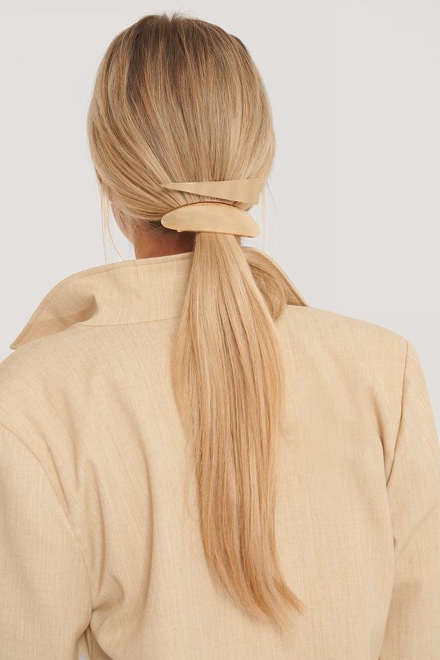 Gold Lot De 2 Grosses Pinces À Cheveux