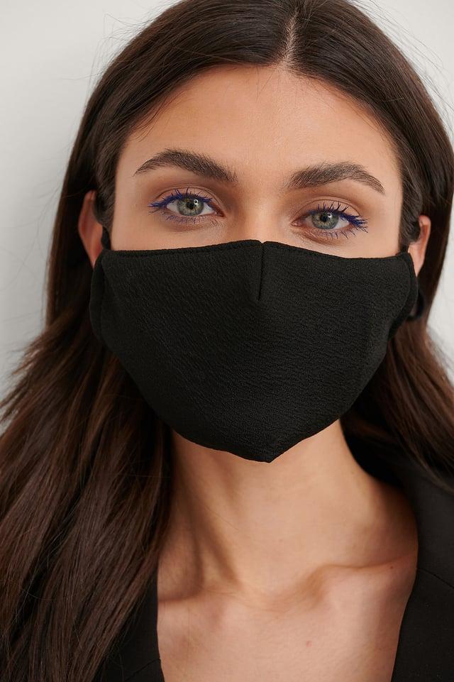 Pink/Black 2-Pack Textured Face Masks