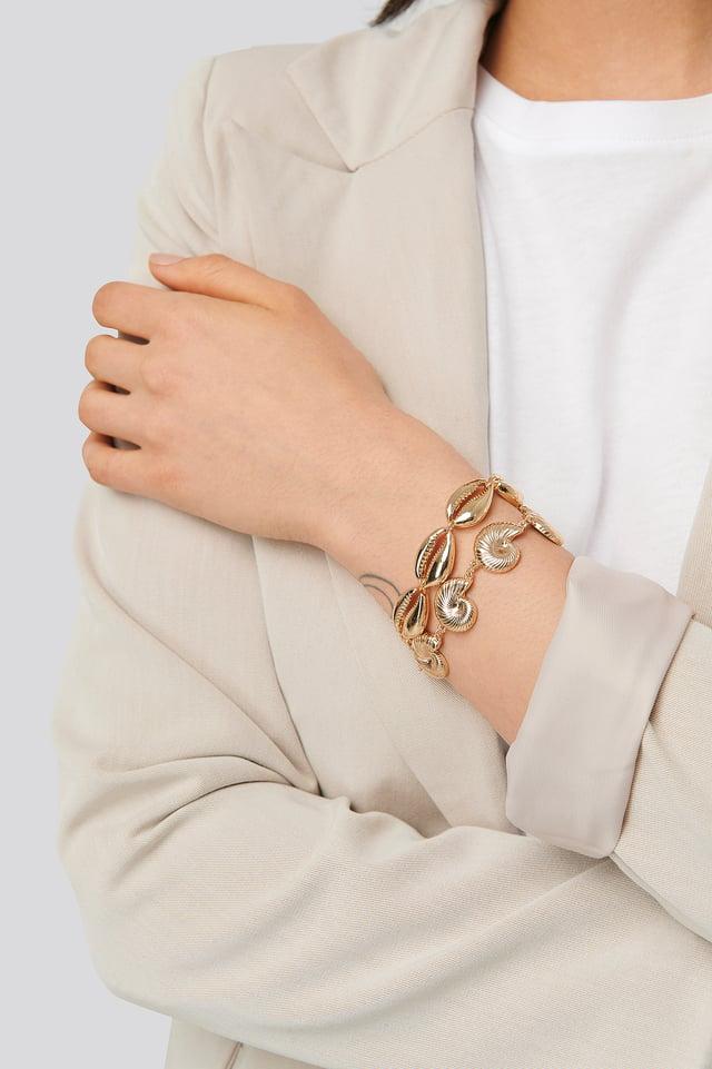 Lot De Bracelets Gold