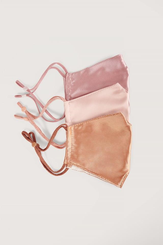 Pink Combo Lot De 3 Masques Faciaux