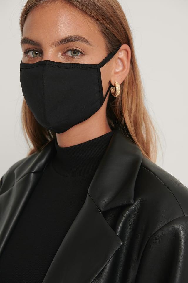 Black Lot De 3 Masques Faciaux