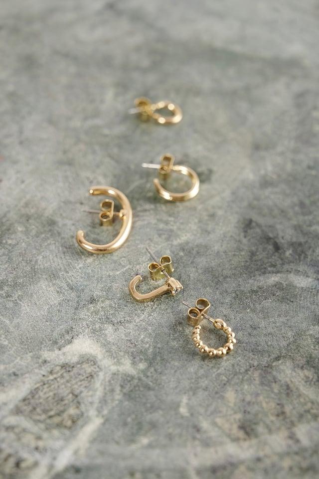 Gold Recyclées Boucles D'oreille Manchette