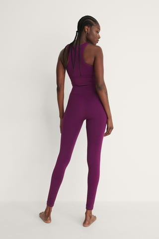 Purple Recyclé Legging Taille Haute