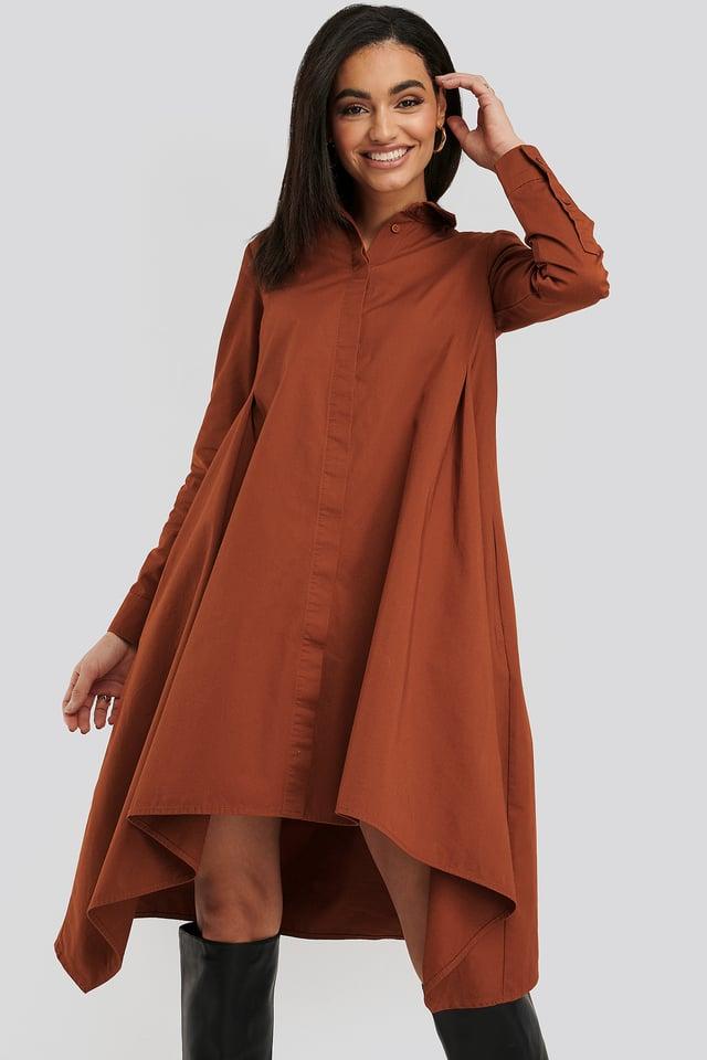 Asymmetrical Shirt Dress Picante