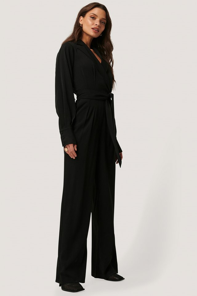 Combinaison Pantalon À Manches Ballon Black