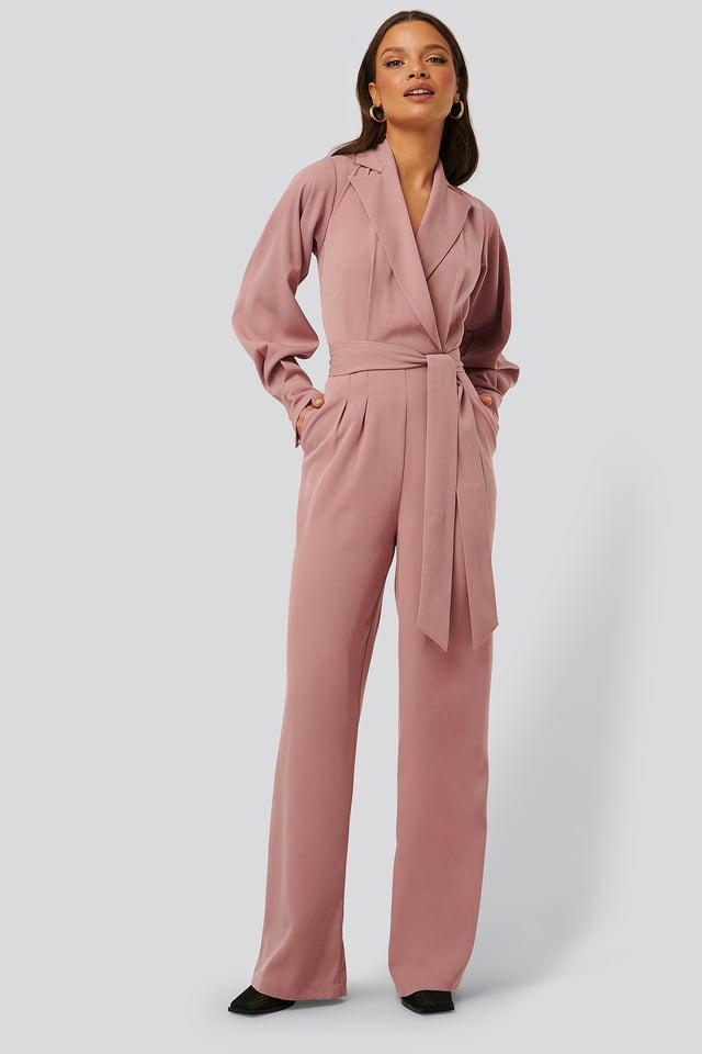 Combinaison Pantalon À Manches Ballon Pink