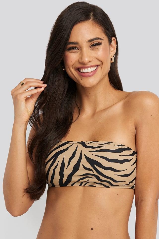 Zebra Haut De Bikini Bandeau