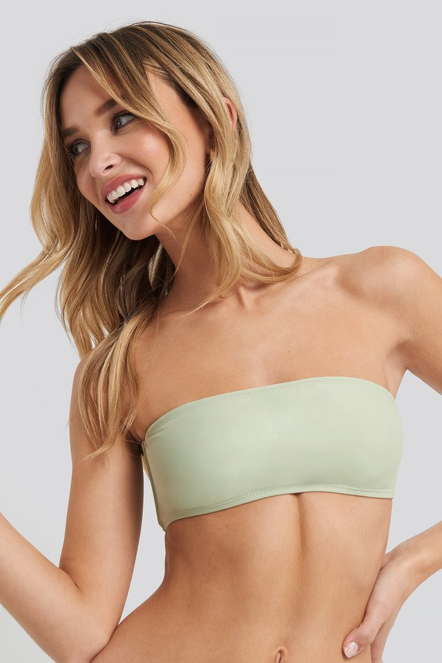 Dusty Green Haut De Bikini Bandeau