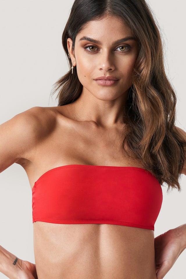 Haut De Bikini Bandeau Red