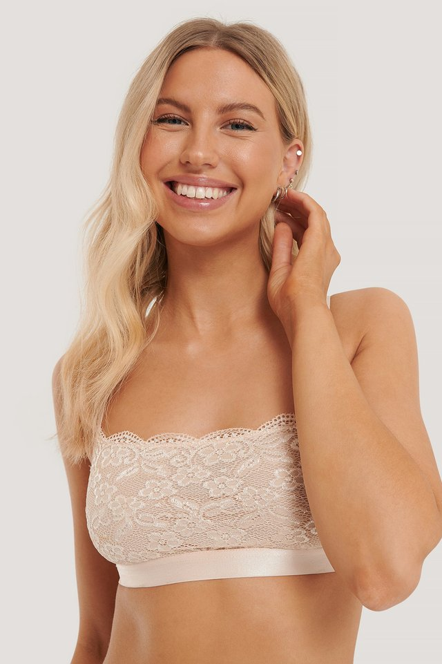 Bandeau Lace Bra Cream