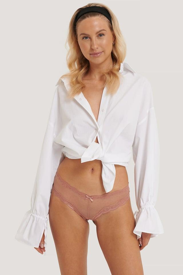 Basic Brazilian Mesh Panty 2-pack Light Pink/Dark Pink