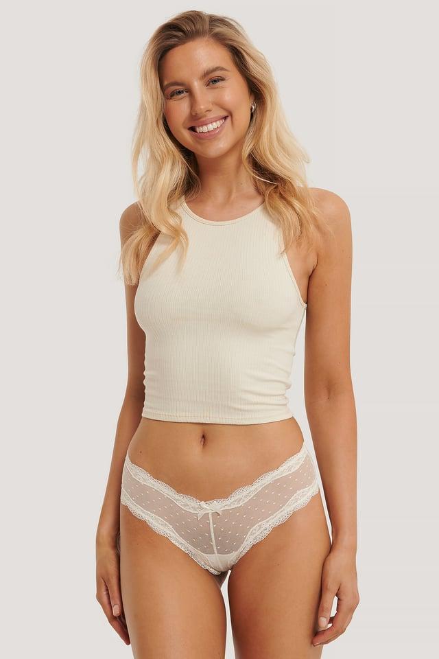 Basic Brazilian Mesh Panty 2-pack White