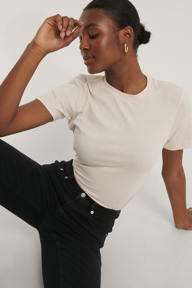 Dusty Light Beige Tee-Shirt Basique