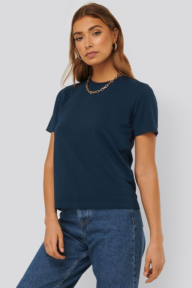 Dark Navy Tee-Shirt Basique