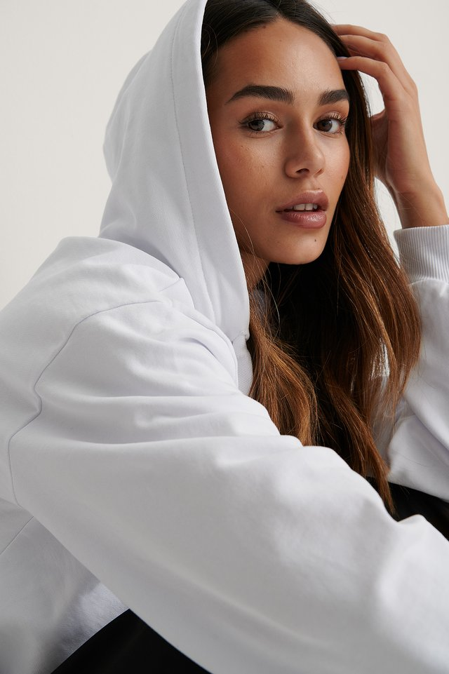 White Hoodie Basique