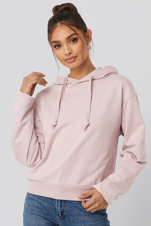 Dusty Light Pink Hoodie Basique