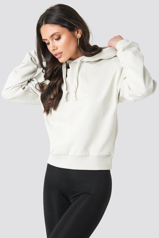 Dusty Light Beige Hoodie Basique