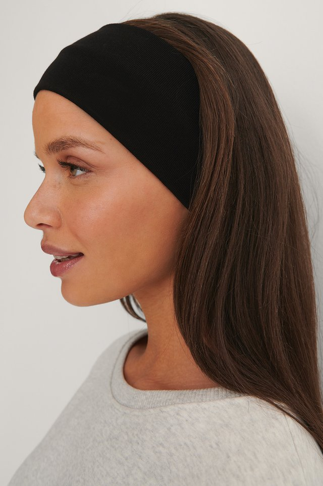 Black Basic Jersey Headband