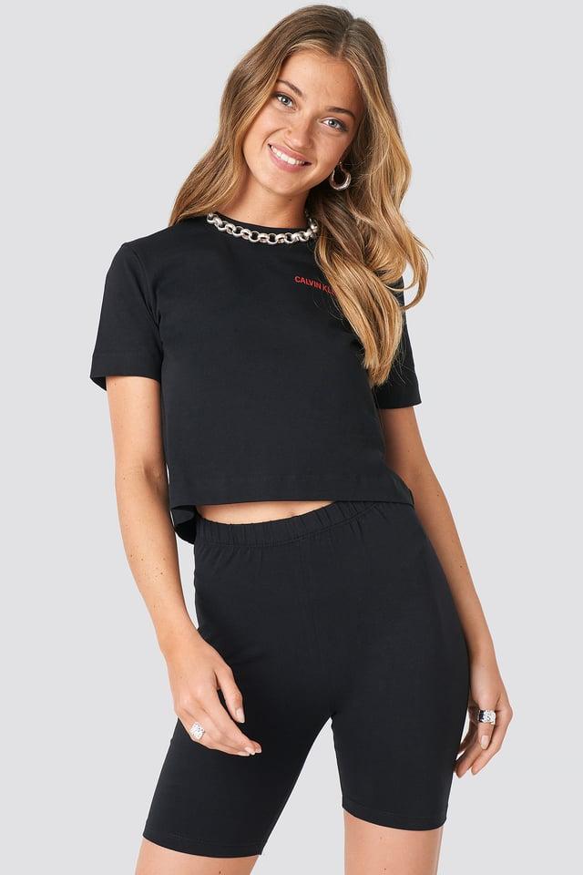 Black Basic Jersey Shorts