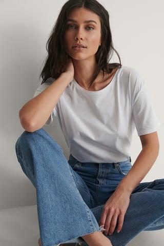 White Tee-Shirt Surdimensionné Basique