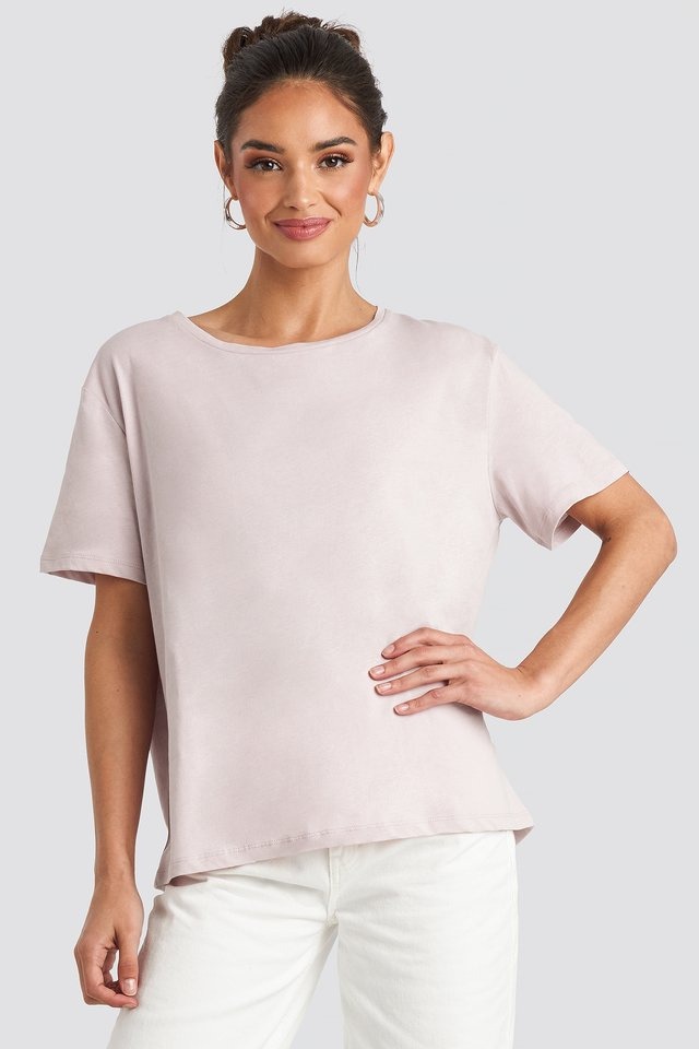 Tee-Shirt Surdimensionné Basique Dusty Light Pink