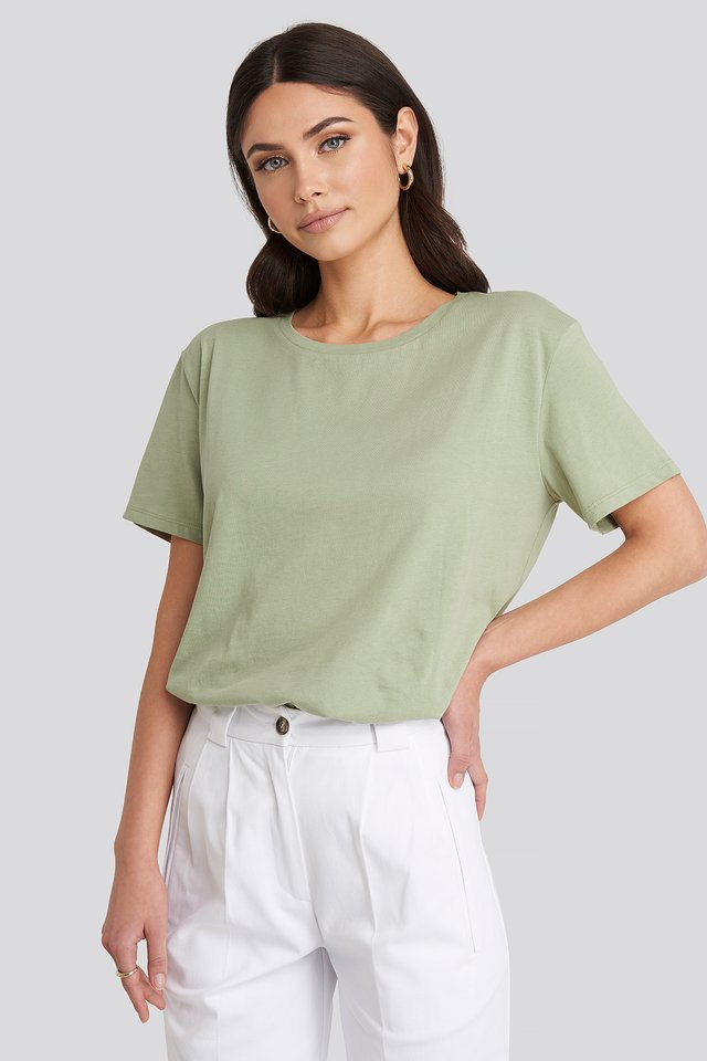 Tee-Shirt Surdimensionné Basique Light Khaki