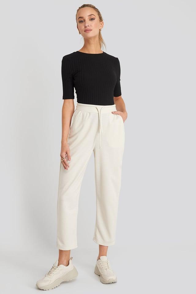 Basic Slip Pants Dusty Light Beige