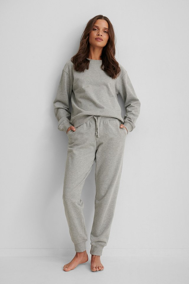 Pantalon De Survêtement Basique Grey Melange