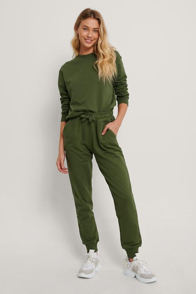 Pantalon De Survêtement Basique Deep Khaki