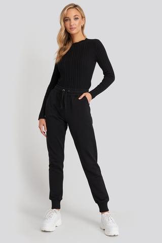 Black Pantalon De Survêtement Basique