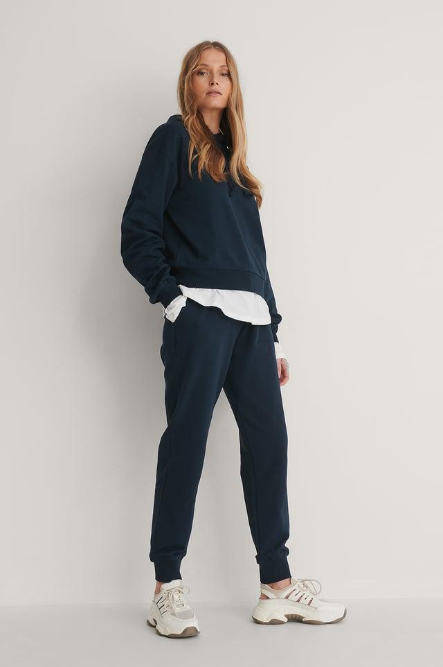 Dark Navy Pantalon De Survêtement Basique