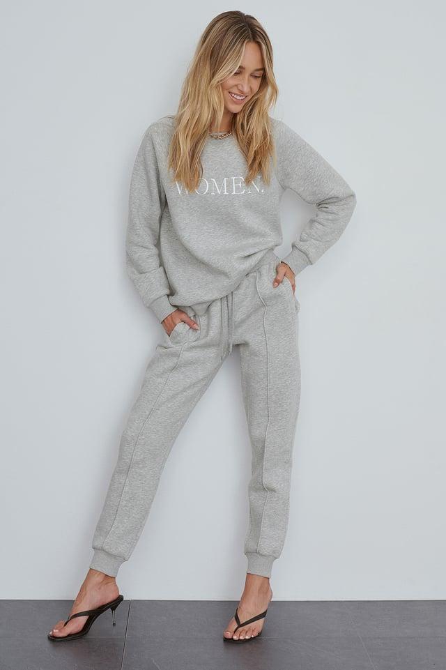 Grey Biologique Pantalon De Survêtement Basique
