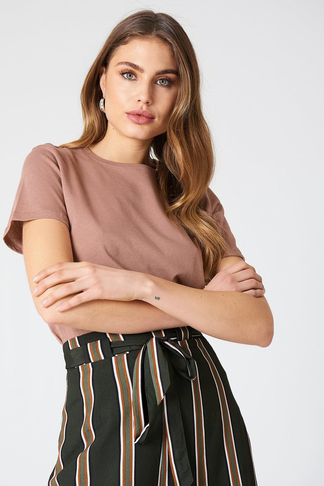 Dusty Dark Pink Tee-Shirt Basique