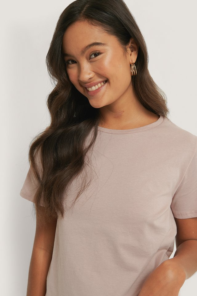 Dusty Light Pink Tee-Shirt Basique
