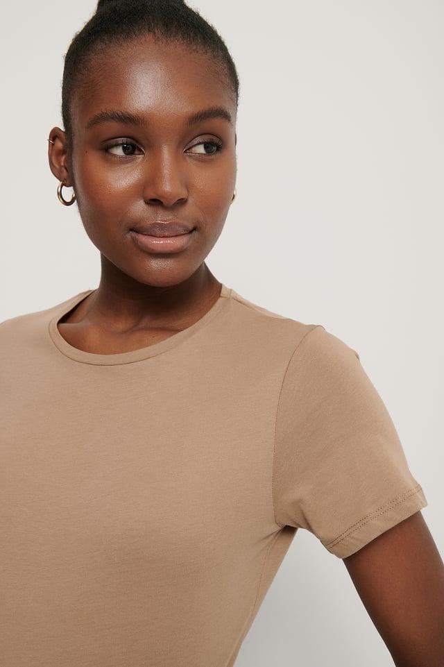 Tee-Shirt Basique Dark Beige