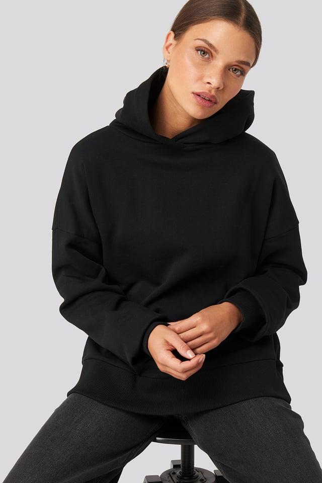 Hoodie Large Basique Black