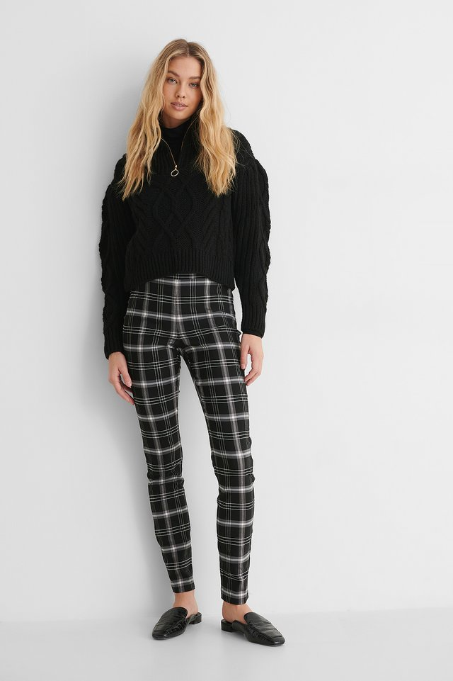 Pantalon À Carreaux Black Check