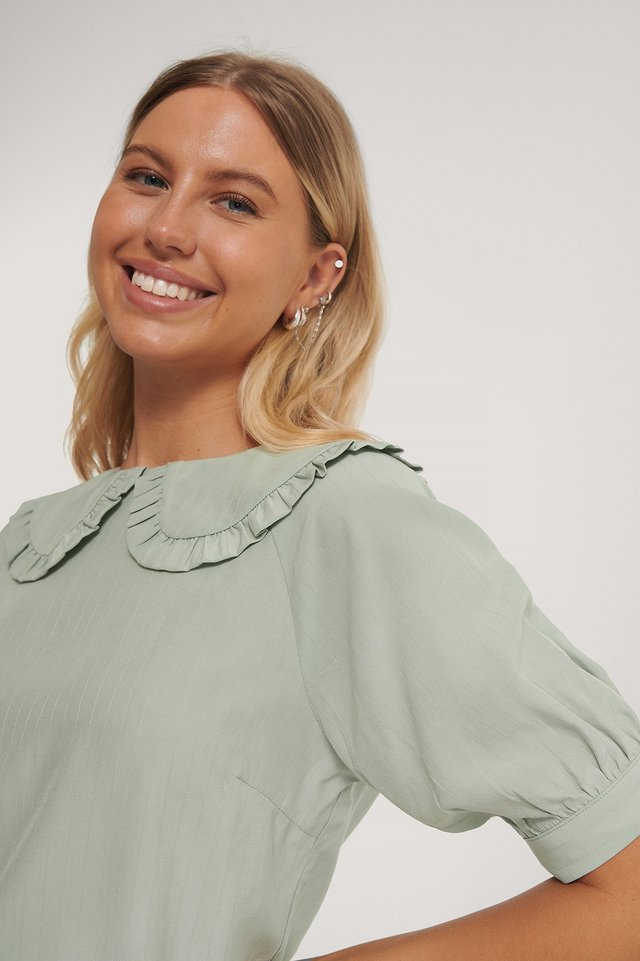 Big Collar Blouse Green