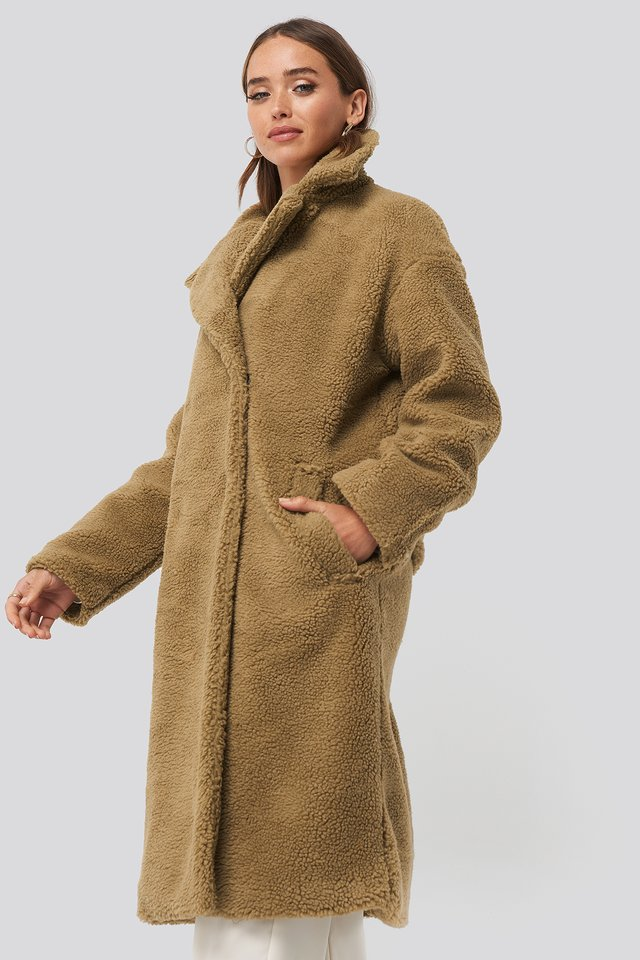 Brown Big Collar Teddy Coat