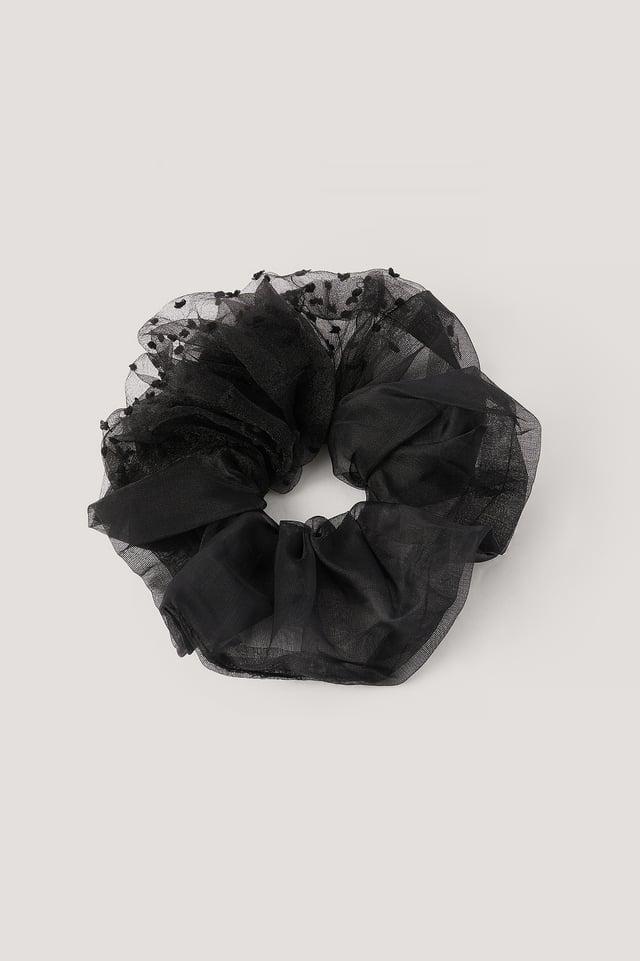 Chouchou En Organza Black