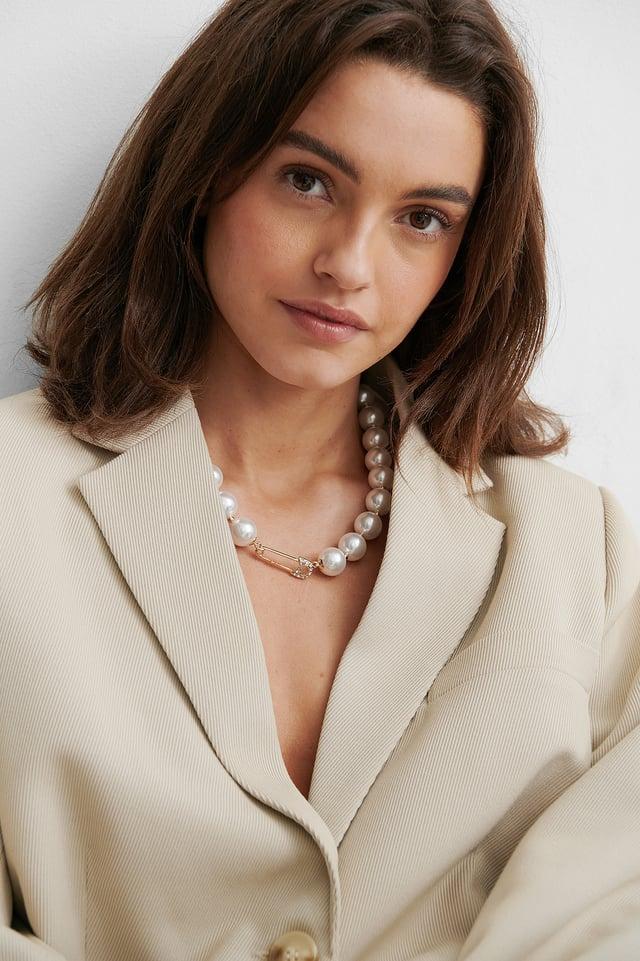 Collier De Perles White/Gold