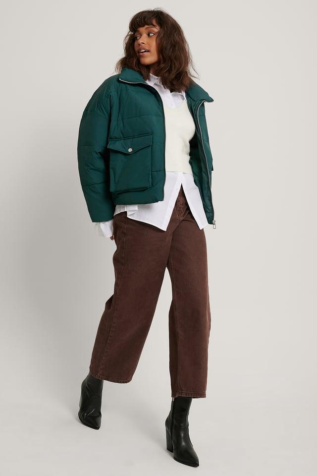 Veste Matelassée À Grandes Poches Green