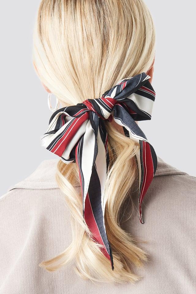 Big Stripes Hair Scarf Red Stripe