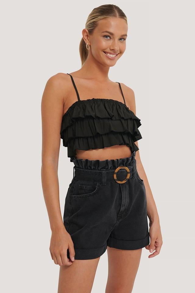 Black Short En Jean
