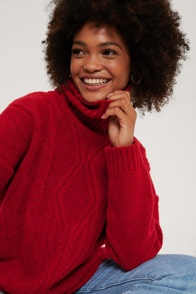 Pull Tricot Red