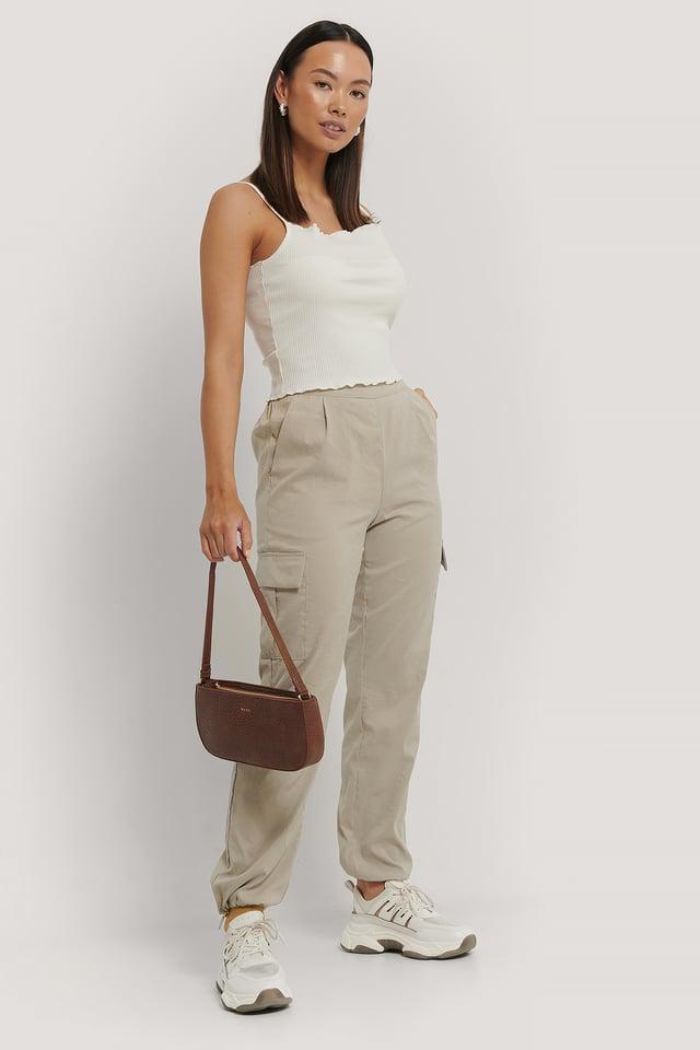 Pantalons Cargo Beige