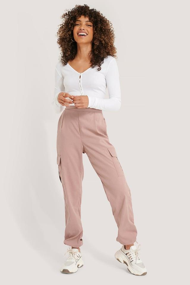 Pantalons Cargo Dusty Pink