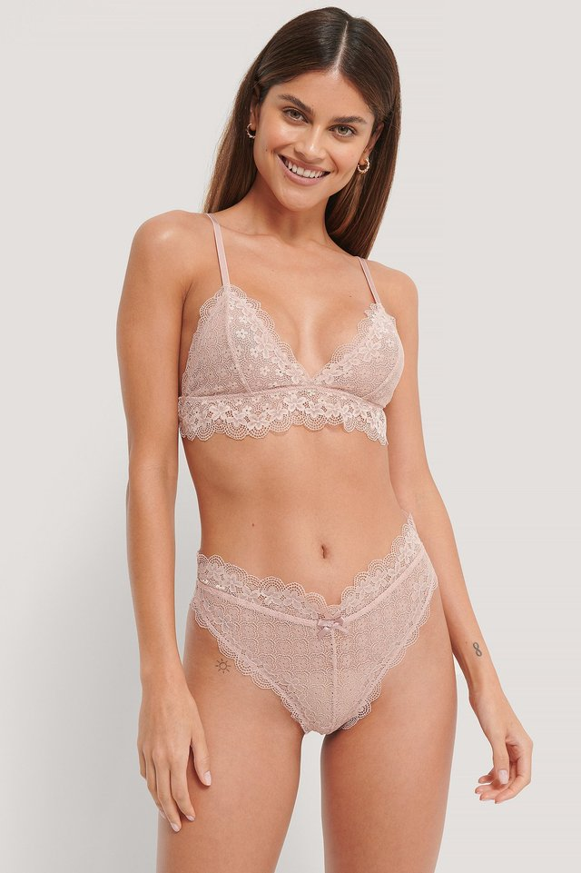 Dusty Pink Culotte Dentelle