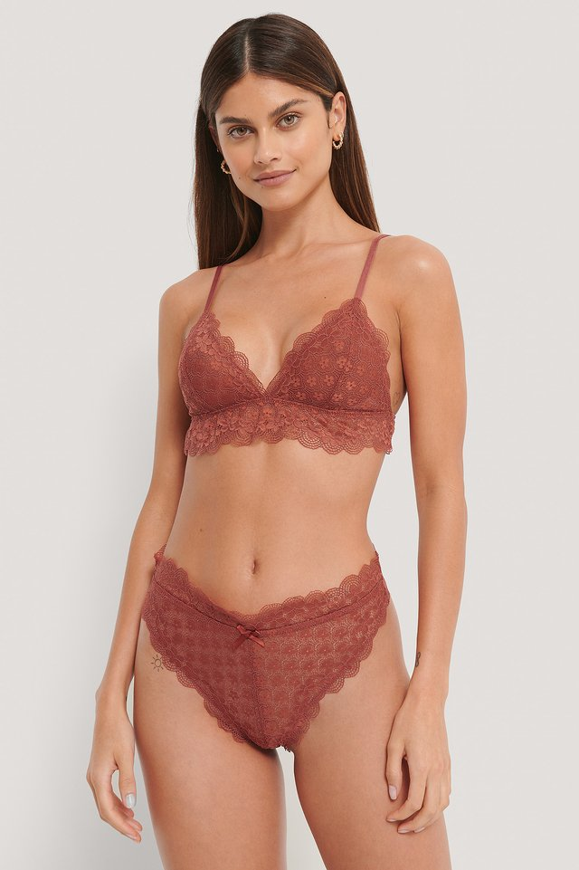 Dusty Red Culotte Dentelle