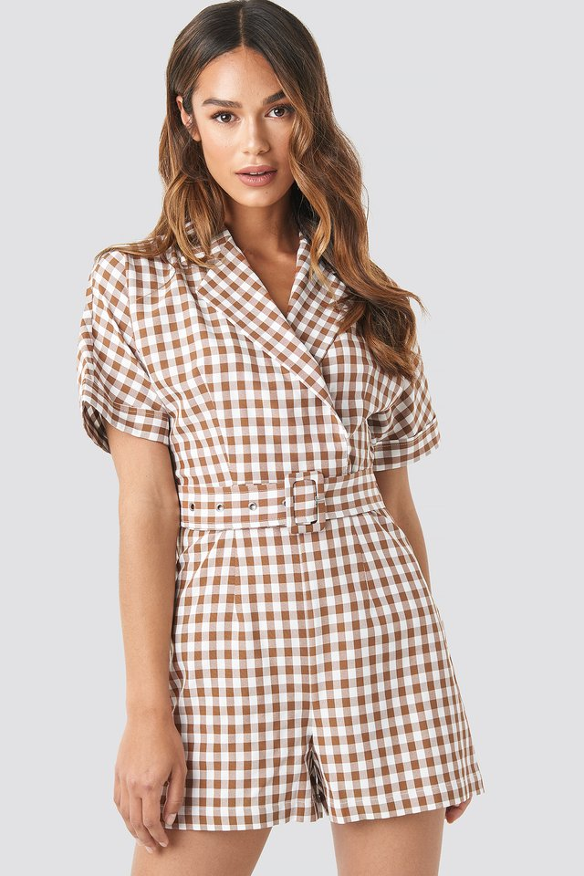 Checked Playsuit Checked
